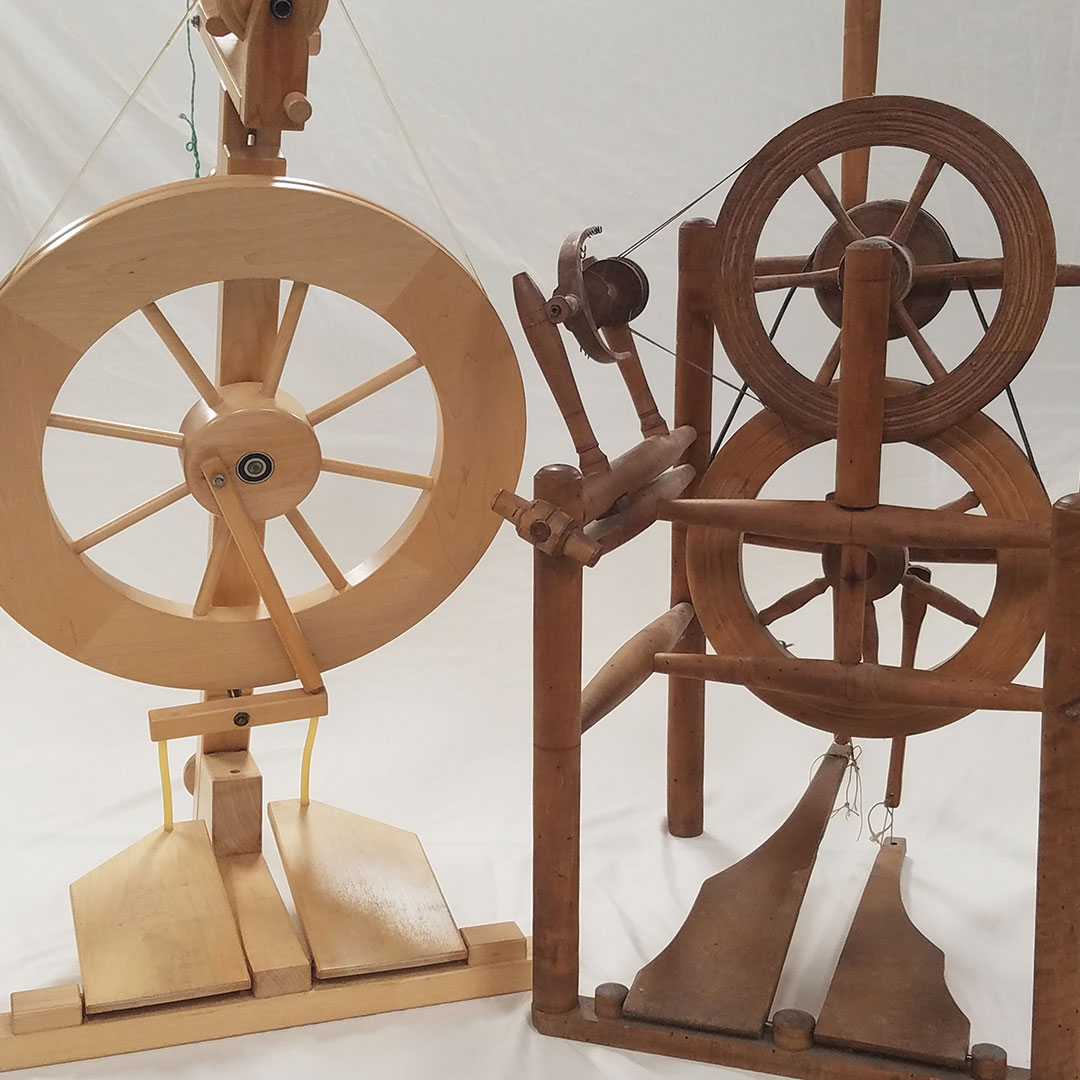 Spinning Wheels Old And New Handwoven