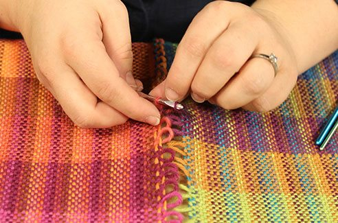 Now you can weave projects wider than your loom, without having to use doubleweave!