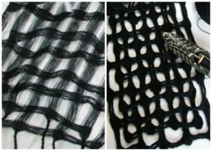 Many of these scarves are four shaft weaving patterns.