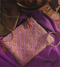 Calliope purse handwoven in overshot
