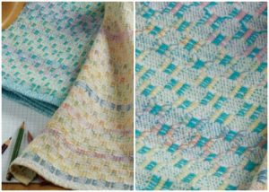 Weave a baby blanket on a 4-shaft loom.