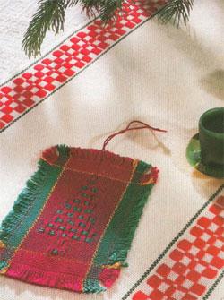 Huck Lace ornament by Susan Lesche