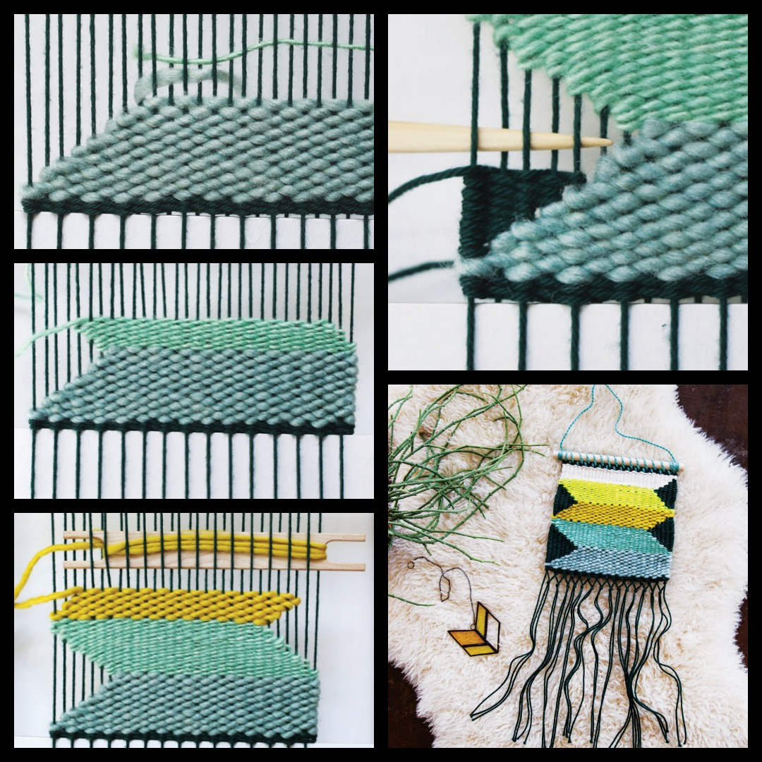 Weave a DIY wall hanging using these basic techniques and ideas.