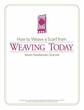Learn how to weave a scarf with these free patterns on handwoven scarves.
