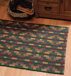 Weaving rugs is a great way to master a new skill, as in this warp rep rug from Tom Knisely.