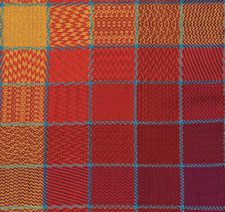 You'll love weaving this hand woven blanket pattern that involves two gamps in one: a twill gamp and a color gamp.
