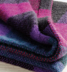 Learn how to weave a blanket, such as this simple plain-weave plaid blanket in this FREE eBook.