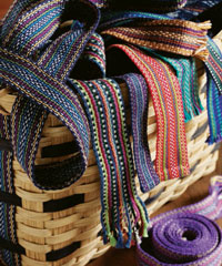 Learn how to weave bands in this free inkle loom weaving ebook.