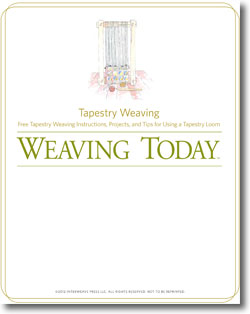 DIY tapestry weaving is easier than you think with this free eBook.