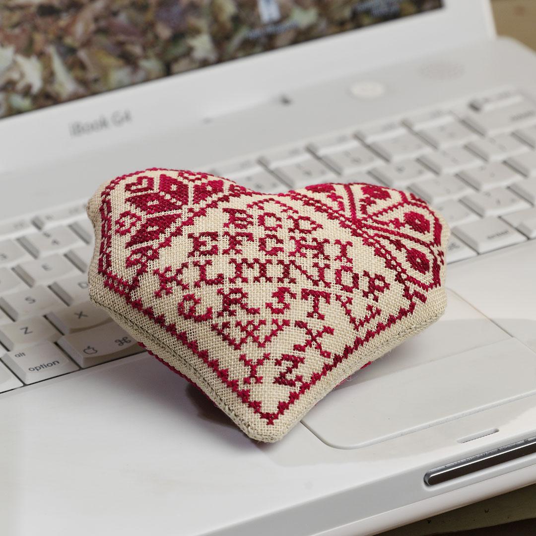 cross-stitch heart