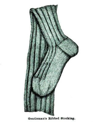 Gentleman's Ribbed Stocking