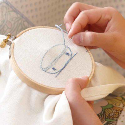 doing emboidery