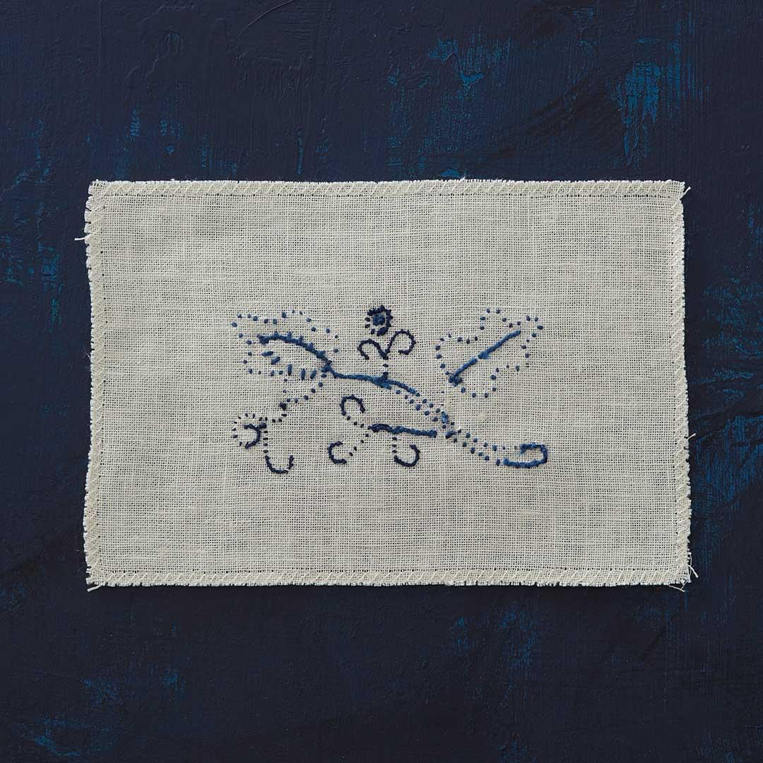 Palestrina knot stitch
