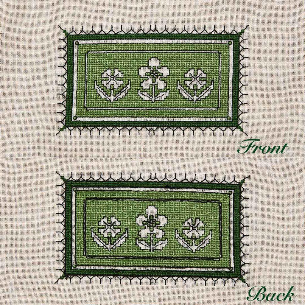 two-sided Italian cross-stitch