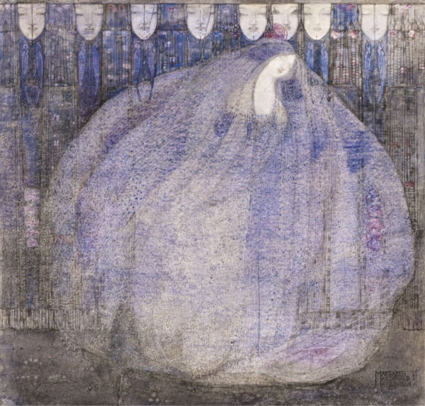 Margaret Macdonald Mackintosh, <em>The Mysterious Garden,</em> 1911. Purchased with help from The Art Fund, 2011.   Photo by National Galleries of Scotland/Getty Images
