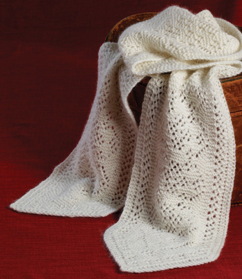 Meteliza knitted lace scarf pattern design from eastern Europe!