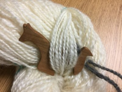 Yarn from Bummer or Sweetie Pie, not so carefully spun.