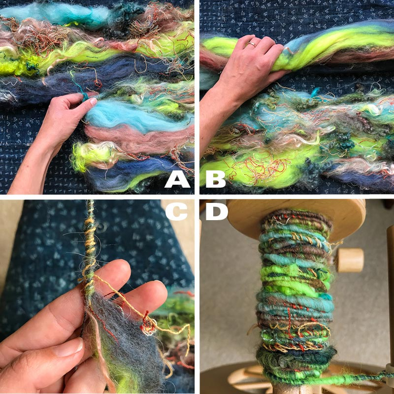textured spinning batt