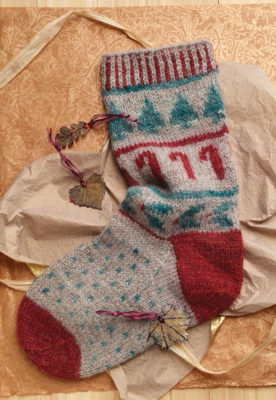 The Border Leicester Christmas Stocking is a border leicester wool pattern found in our free Guide to Spinning Wool eBook.