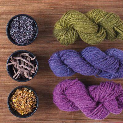 Natural dyes create harmonious colors.