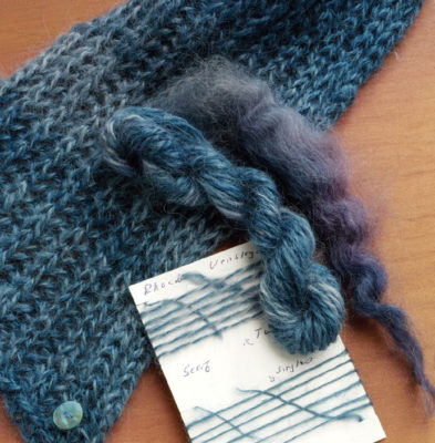 The Wensleydale Scarf is a wool scarf pattern found in our free Guide to Spinning Wool eBook.