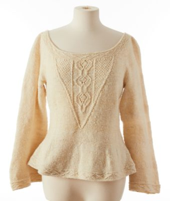 Preparing Raw Fleece for Spinning: sweater on mannequin
