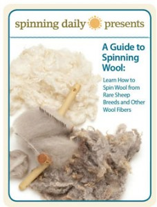 The free Guide to Spinning Wool eBook will teach spinners how to spin wool from rare sheep breeds and other wool fibers.